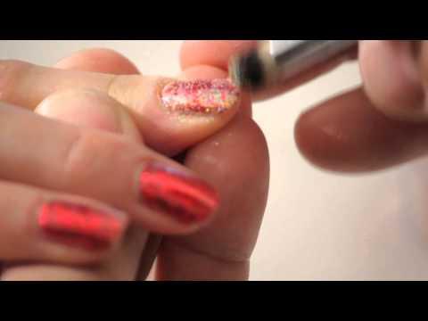 Rock Star Glitter Press: Part 2 of 3,  Application - Gel Nails