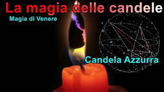 Magia con le candele Venere candela Azzurra collegata al venerdì