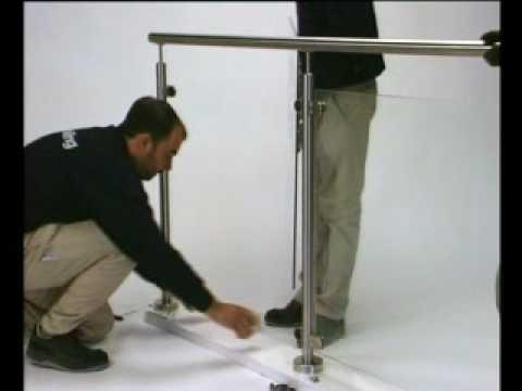 q railing mounting glassclamps youtube. Black Bedroom Furniture Sets. Home Design Ideas