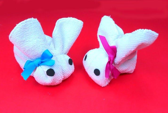 Piegare Gli Asciugamani A Forma Di Animale : Come realizzare un coniglietto con un asciugamano youtube