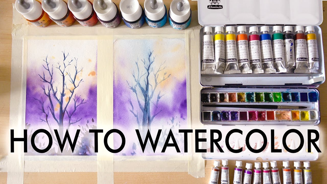 How to watercolor tutorial for beginners youtube for How to use watercolors for beginners