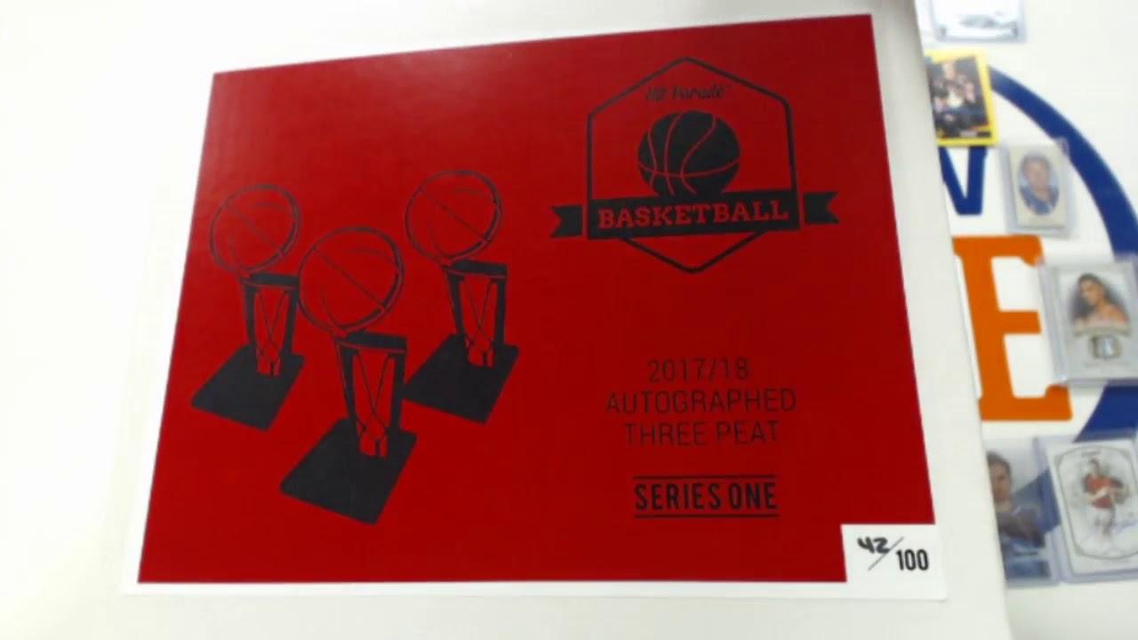 2018 Hit Parade THREE PEAT Basketball - Series 1 3-Box - DACW Live 9 Spot  Random Hit Break  3 5200ed40a