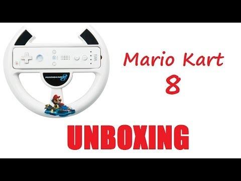 Mario Kart 8 Nintendo Wii U Steering Wheel Unboxing