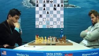Wesley So (2765) vs Magnus Carlsen (2872)    Tata Steel Chess 2020 - R13