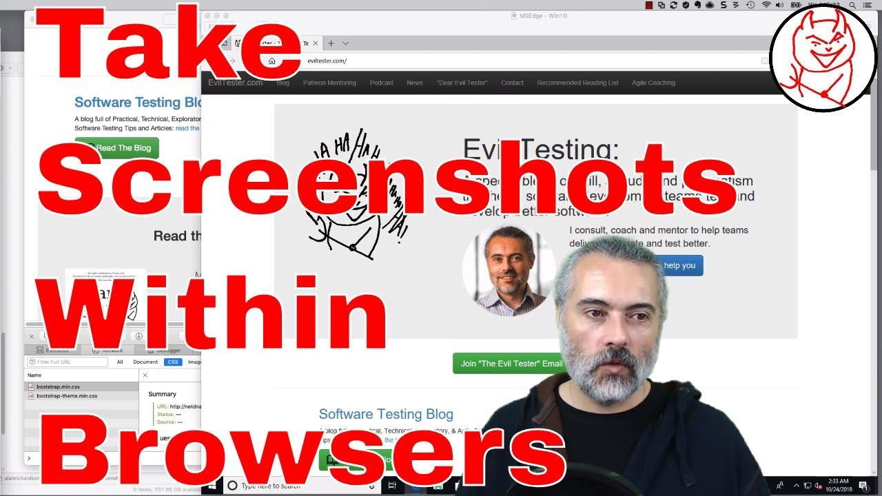 How to take screenshots within a browser - Firefox, Safari, Chrome and Edge