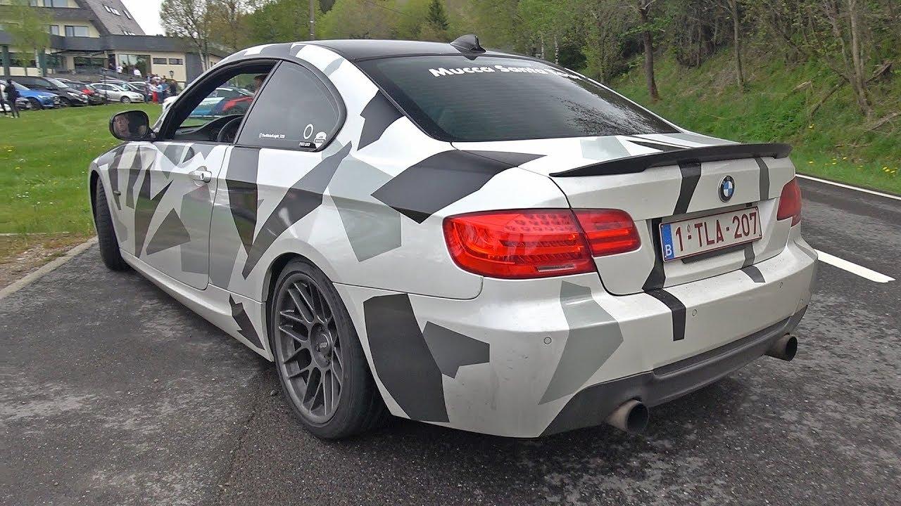 BMW 335i E92 N55 - Brutal Accelerations, Burnout & Backfire Sound!