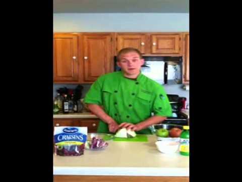 Cabbage Apple Cranberry Salad Recipe
