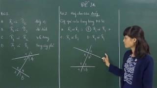 [Toán 7]Các góc tạo bởi một đường thẳng cắt hai đường thẳng