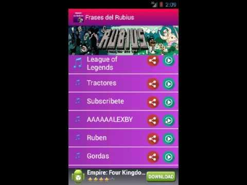 Phrases of the Rubius