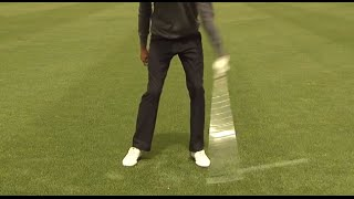 Golf Training Eisen: Den Ball mittig treffen