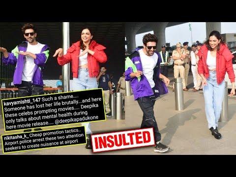 Fans INSULT Deepika Padukone For Dancing At The Airport With Kartik Aaryan Mp3