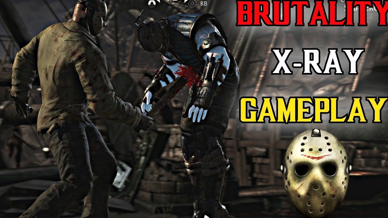Mortal Kombat X Jason Voorhees Gameplay - All Brutalities & X-Rays