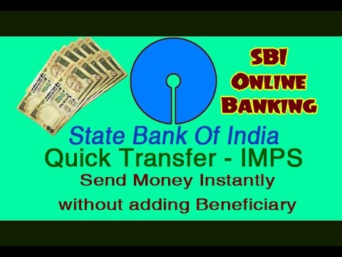 SBI Bank - Quick Transfer - Send Money Instantly without adding beneficiary