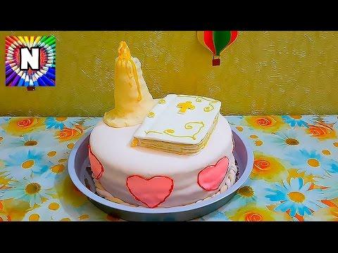 торт с мастикой бисквитные коржи рецепт cake with mastic biscuit shortcake recipe