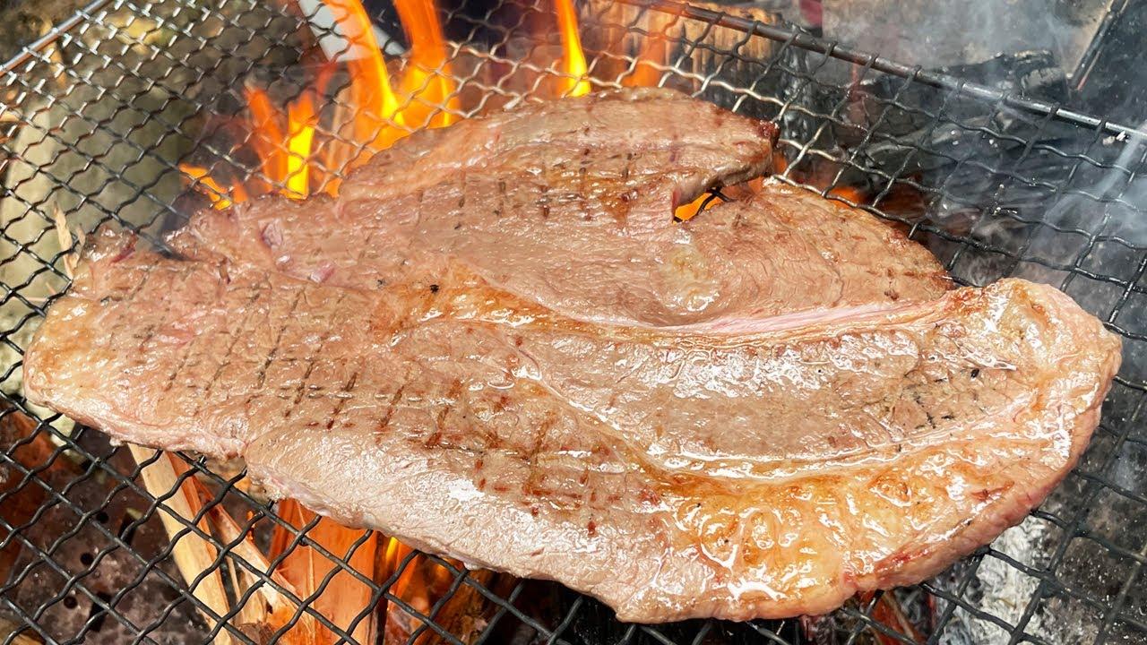 【番外編】山で誰かとステーキを焼いて食う
