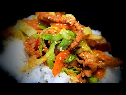 Chinese Spicy Pork & Greens (Chinese Style Recipe)