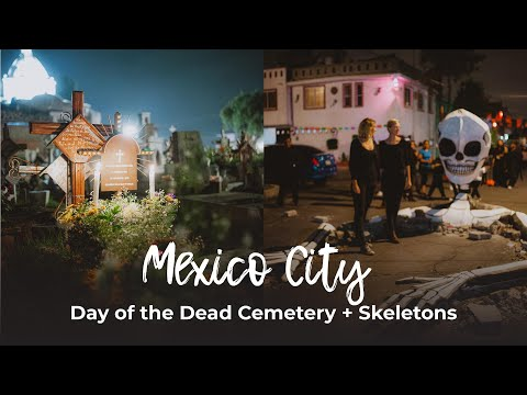 Giant Skeletons + San Andres Mixquic Cemetery | DAY OF THE DEAD IN MEXICO
