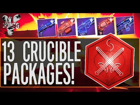 Destiny: OPENING 13 CRUCIBLE PACKAGES – The Last Crucible Packages before the Rise of Iron
