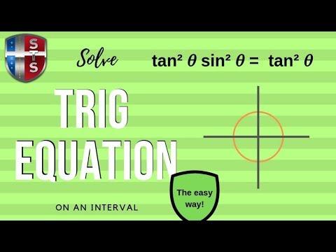 Math Analysis - Trigonometric Equation on Interval