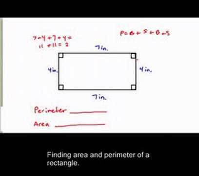 Finding perimeter and area of a rectangle youtube ccuart Gallery