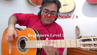 Cues to find major scale keys 1 on Paco de Lucia´s fingerings / Ruben Diaz