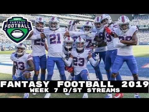2019 Fantasy Football: Week 7 Defense Streams (D/ST Pickups)