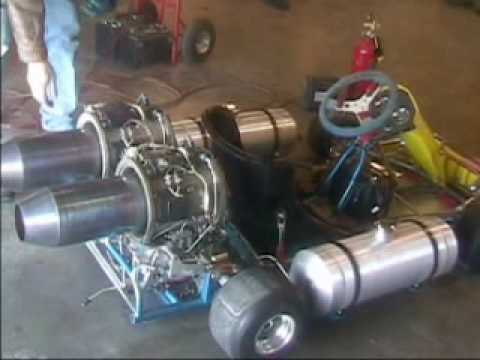 Twin Turbine Go Kart With High Performance Afterburners