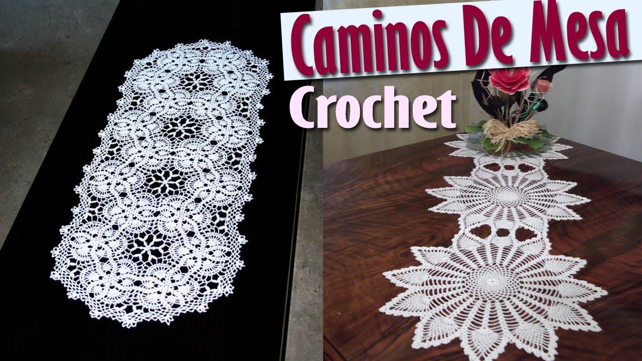 Caminos para mesa tejidos a crochet dise os e ideas - Camino de mesa elegante en crochet ...