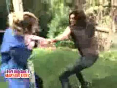 Teri Hatcher Fighting People!