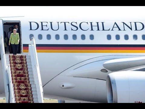 Angela Merkel's plane makes emergency landing