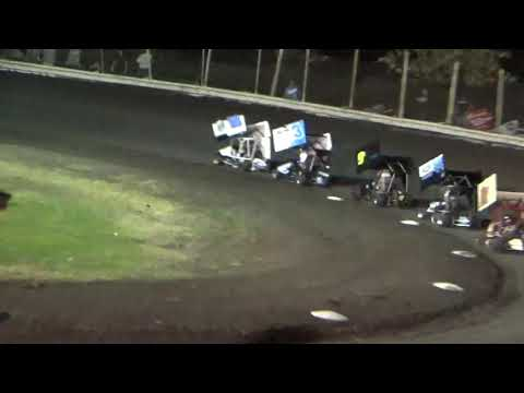Tumble in trophy dash. - dirt track racing video image