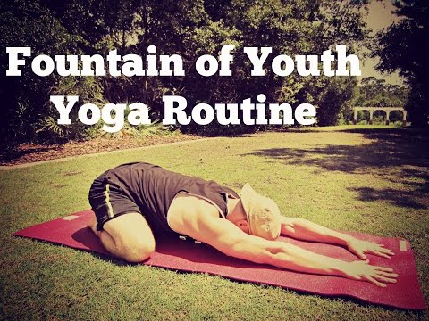 "40 minute ""Fountain of Youth"" Yoga Stretch Class - Flexibility Routine"