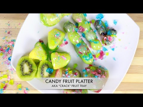 CRACKED CANDY FRUIT PLATTER