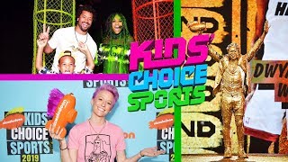 Kids' Choice Sports 2019 (Nickelodeon) Dwyane Wade Slime Moment, Arrivals & Interviews [HD]