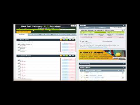 In play trading - Europa league