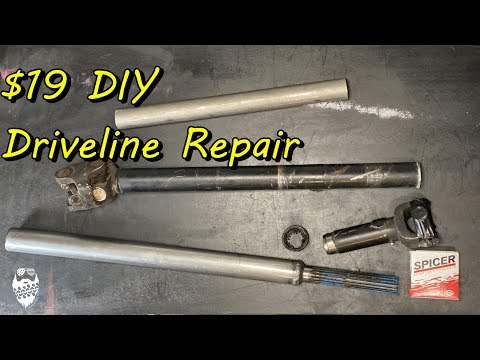 DIY Driveline Repair, Fixing a bent Driveshaft for $19 on my Jeep Wrangler TJ