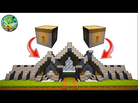 Minecraft Tutorial: Transform Village House into GateHouse