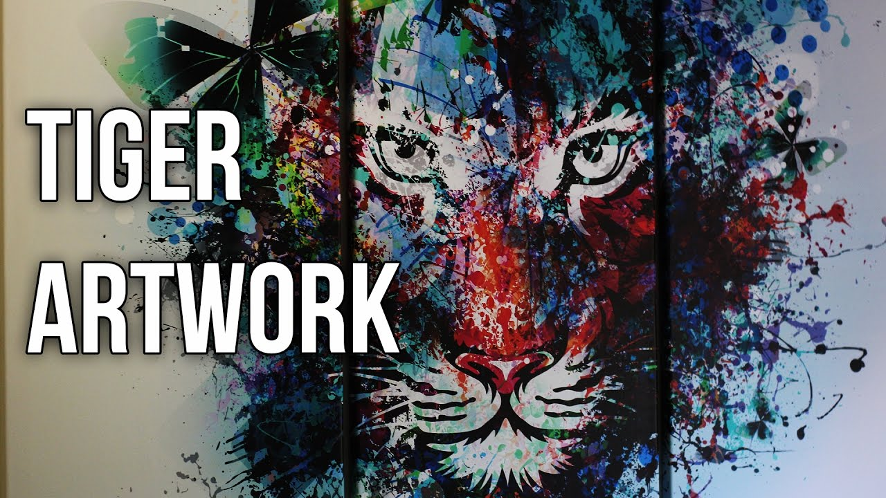 Watercolour Tiger Artwork Canvas By Gallery of Innovative Art ...
