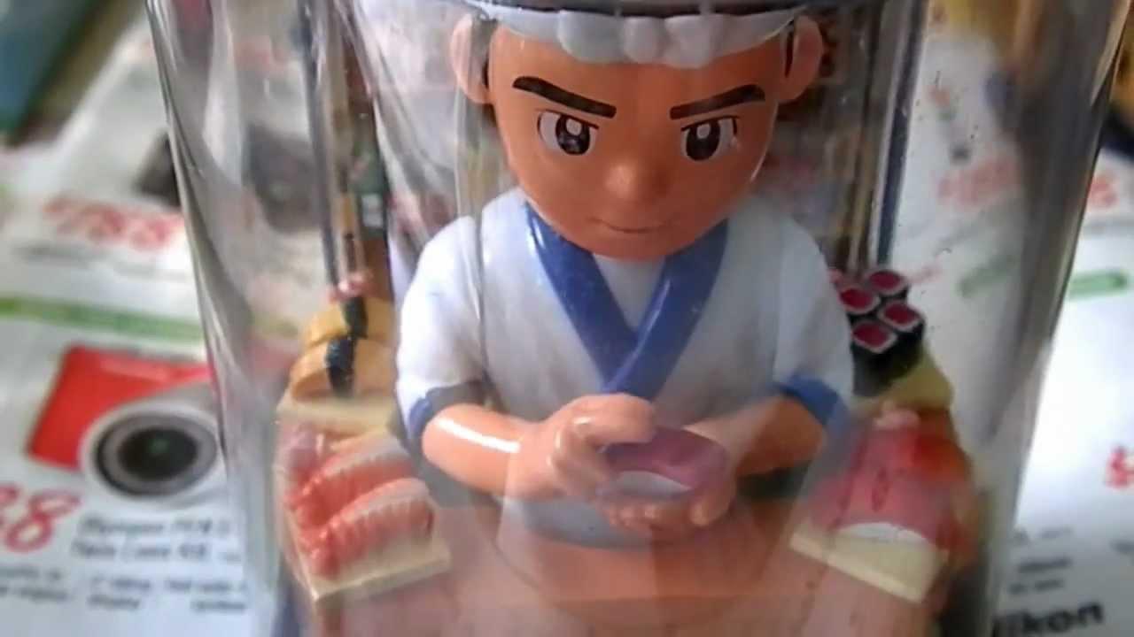 Solar figurine japanese sushi chef