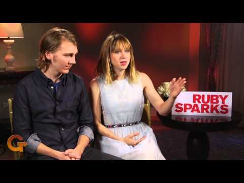 RUBY SPARKS   Paul Dano and Zoe Kazan