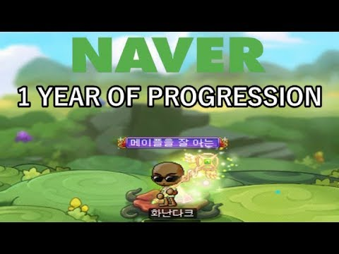 NAVER Account: 1 Year Of KMS Free To Play Progression (Equips/Stats/Cores/Links/Union)