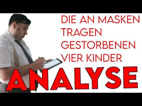Die an Masken gestorbenen vier Kinder - Analyse