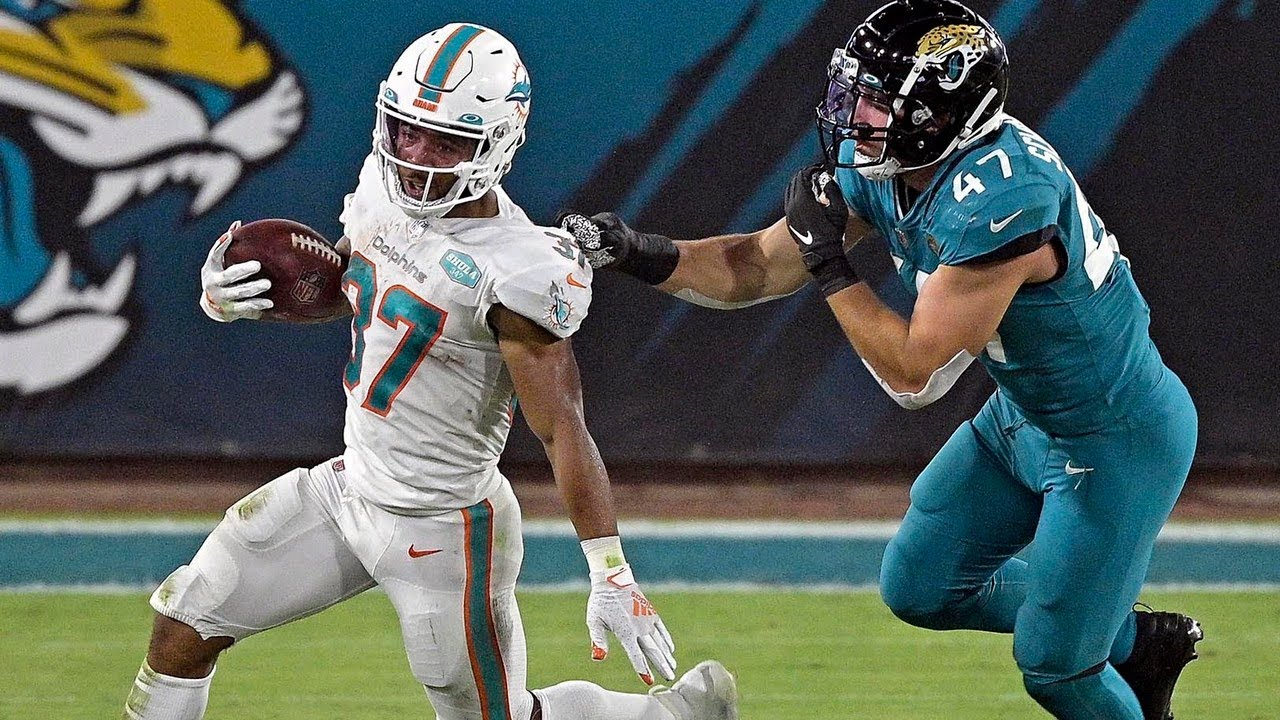 What helped Dolphins running back Myles Gaskin with his run game in their victory over the Jags