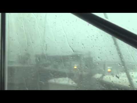 Intense August 2 storm in Traverse City Marina