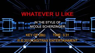 Nicole Scherzinger - Whatever U Like (Backing Track)