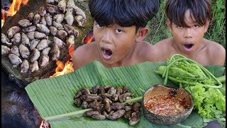 Primitive Technology - Awesome Cooking Chicken Hart - Eating Delicious