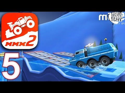 MMX HILL DASH 2 - ARCTIC NIGHT Levels 20 21 22 23 24 -  Gameplay Walkthrough Part 5  (iOS Android)