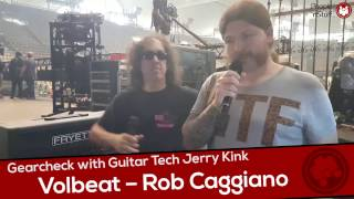Music nStuff: Gearcheck with Rob Caggianos (Volbeat) Guitar Tech Jerry Kink