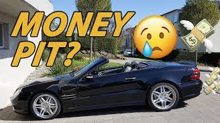 How expensive was it to own a Mercedes SL 55 AMG?