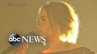 grammys 2016 adele overcomes technical difficulties